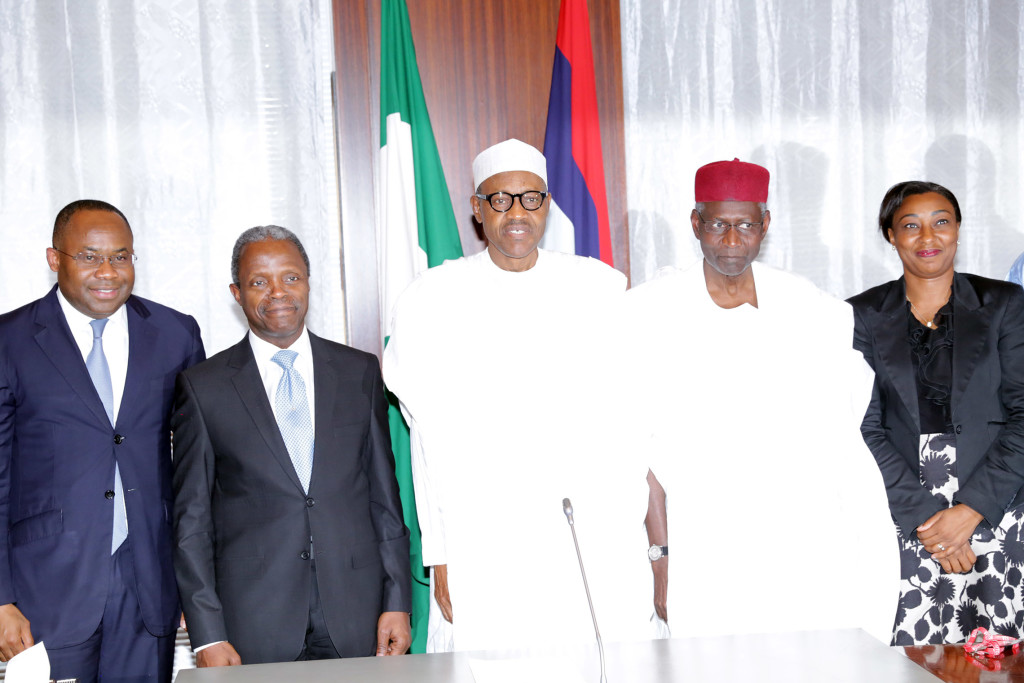NSIA's maiden presentation to President Mohammadu Buhari on August 19, 2015.