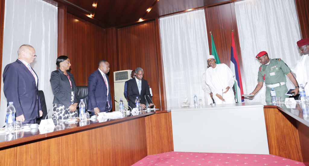 President Mohammadu Buhari and the Federal Executive Council at Presidential Villa, Aso Rock, Abuja; August 19, 2015.