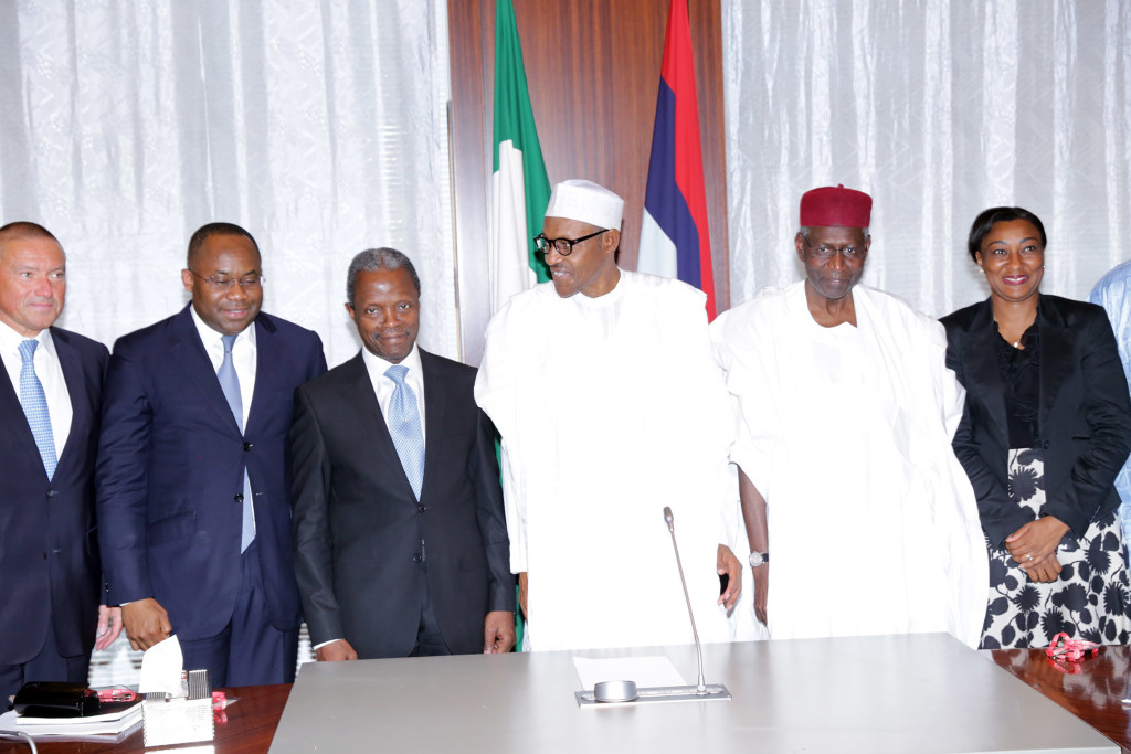 NSIA's maiden presentation to President Mohammadu Buhari at Aso Rock, Abuja; August 19, 2015.