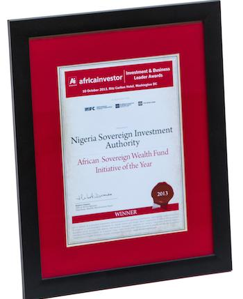 Winner: African Sovereign Wealth Fund Initiative of the Year: 2013