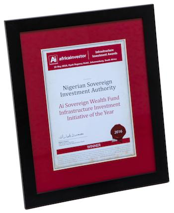 Winner: Ai Sovereign Wealth Fund Infrastructure Investment Initiative of the Year: 2016